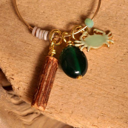 Boucle d'oreille fantaisie - lacabanaeauxbijoux - la cabane aux bijoux