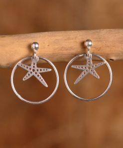 Boucles d'oreilles argent étoile de mer