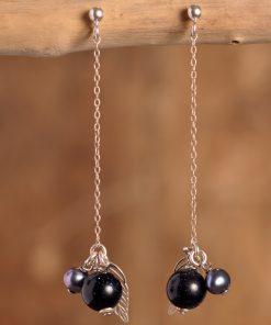 Boucles d'oreilles blue stone
