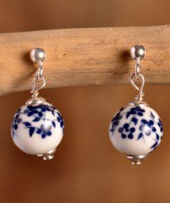 Boucles d'oreilles perle fleurie