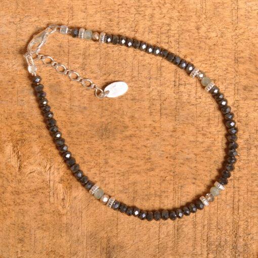 Bracelet fermoir argent cristal