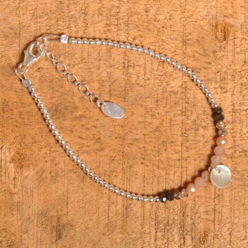 Bracelet fermoir argent lune