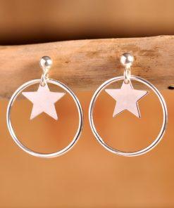Boucles d'oreilles étoile argent