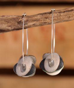 Boucles d'oreilles créoles coco